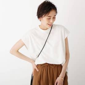 ハイツイストコットン フレンチスリーブカットソー【WEB限定サイズ】 (ホワイト)