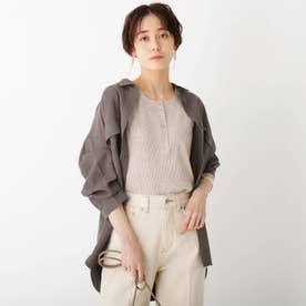 CAFFISI ドレープツイル リラクシーシャツジャケット【WEB限定カラー・サイズ】 (ガンメタリック)