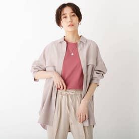 CAFFISI ドレープツイル リラクシーシャツジャケット【WEB限定カラー・サイズ】 (サンドベージュ)