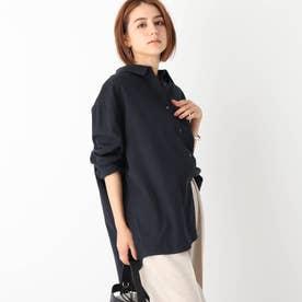 ハードマンズリネン ワイドシャツ【WEB限定サイズ】 (ネイビー)