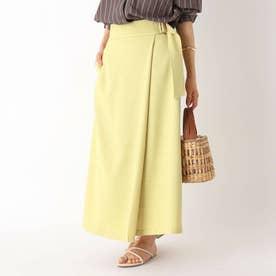 LINECバスケット バックルデザインフレアスカート【WEB限定サイズ】 (マスタード)