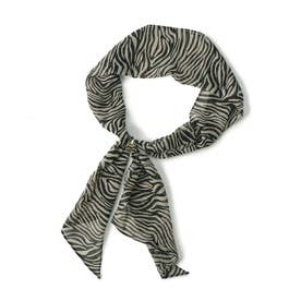 シフォンリング付きスカーフ (ゼブラ)