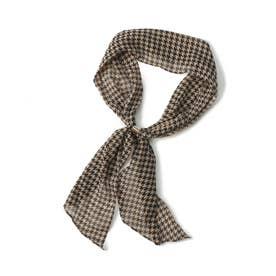 シフォンリング付きスカーフ (千鳥格子)