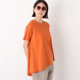 シルキースーピマ イレギュラーヘムカットソー【WEB限定カラー・サイズ】 (オレンジ)