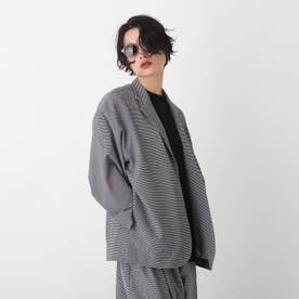 ライトダブルクロス テーラードジャケット【UNISEX】 (ブラック)