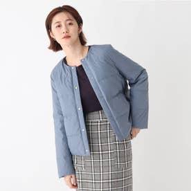 【ミュラーダウン】ノーカラー2wayショートジャケット【WEB限定カラー・サイズ】 (ブルー)