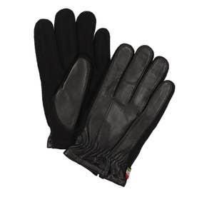 紳士 革手袋 五本指 (ブラック)
