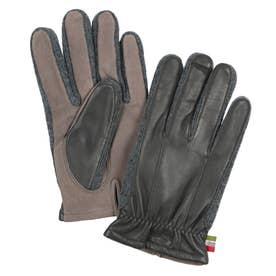 紳士 革手袋 五本指 (グレー)
