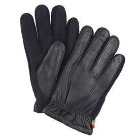 紳士 革手袋 五本指 (ネイビー)