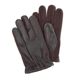 紳士 革手袋 五本指 (D/ブラウン)