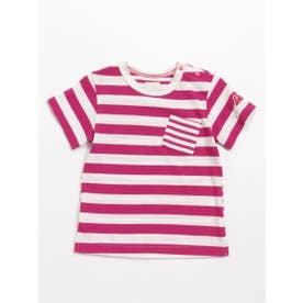 [ベビー]Orangehakka ボーダーMIX半袖Tシャツ (ピンク)