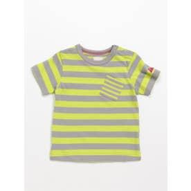 [ベビー]Orangehakka ボーダーMIX半袖Tシャツ (ライトグリーン)