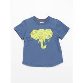 [ベビー]Orangehakka アニマルプリント半袖Tシャツ (ブルー)