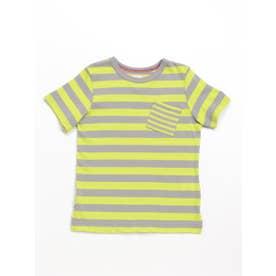 Orangehakka ボーダーMIX半袖Tシャツ (ライトグリーン)
