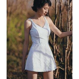 【ネット限定】バッククロス ワンピース水着 【返品不可商品】(ホワイト)