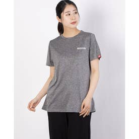 ワンポイント刺繍Tシャツ (杢グレー)