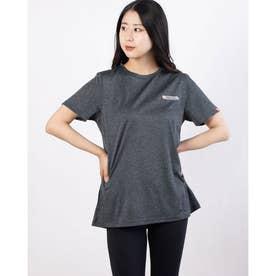 ワンポイント刺繍Tシャツ (杢チャコール)