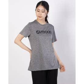 ロゴプリントTシャツ (杢グレー)