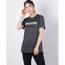 ロゴプリントTシャツ (杢チャコール)