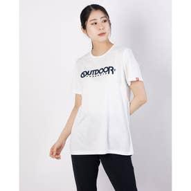 フロッキープリントロゴTシャツ (オフホワイト)