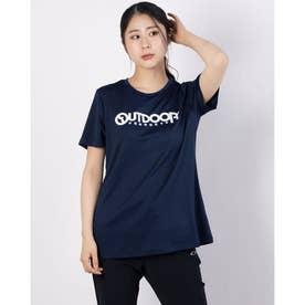 フロッキープリントロゴTシャツ (ネイビー)