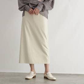 フェイクレザーナロースカート (アイボリー)