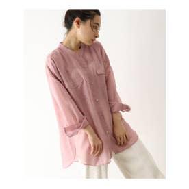 ◆[洗える]シアーウエスタンシャツ (ピンク(972))