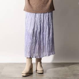 光沢プリーツスカート (ライトパープル)