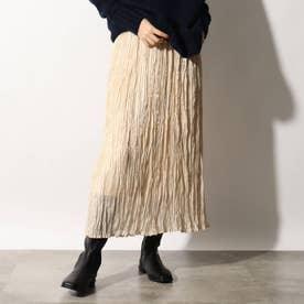 光沢プリーツスカート (ライトベージュ)