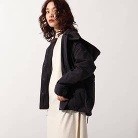 【洗える】ピーチスキンコンフォータブルジャケット (ブラック)