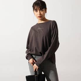【洗える】手描き風ロゴロンT (ガンメタリック)
