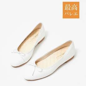 【最高バレエ】ラウンド バレエシューズ (ホワイト)