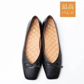 【最高バレエ】スクエアトゥ バレエシューズ (ブラック)