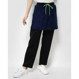 UVパイルジャガードスカート付きパンツ (ネイビー)