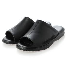 社内履きに最適!コンフォートサンダル (ブラック)