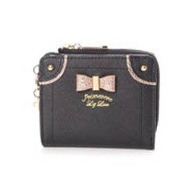 ケイトシリーズ ゴールドリボン付二つ折り財布 (ブラック)