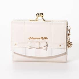 エナ 二つ折りガマ口財布 (ホワイト)