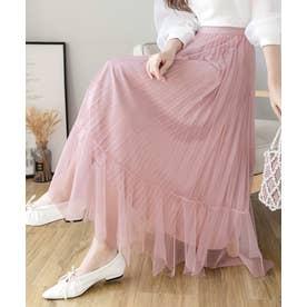 イレヘム チュール×シャイニープリーツ リバーシブル スカート (ピンク)