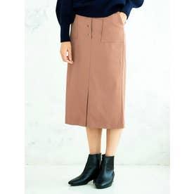 ソフトフェイクレザースカート(ブラウン)