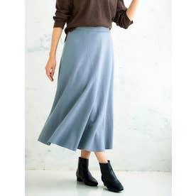 切替マーメイドウールスカート(ブルー)