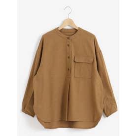 スキッパーVネックシャツ(ベージュ)