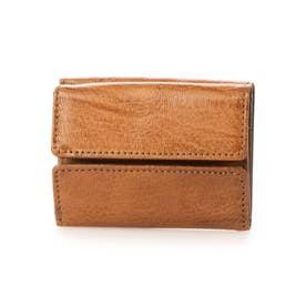 三つ折りミニ財布(ブラウン)