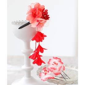 髪飾りセット(20種)浴衣・着物・和装用 (レッド)
