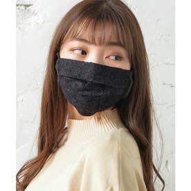 ノーズワイヤー入り肌荒れマスク【返品不可商品】 (ブラック(レースタイプ))