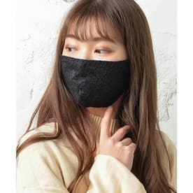 レース・ノーズワイヤー入り肌荒れマスク【返品不可商品】 (ブラック(レースタイプ))