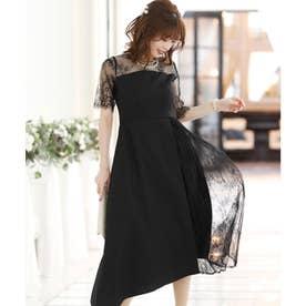 イレヘムプリーツドレス (ブラック)