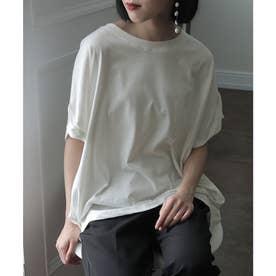 立体ドルマンスリーブTシャツ (ホワイト)