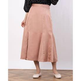 カラーサテンマーメイドスカート (ピンク)