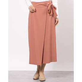フロントタックサイドリボンスカート (ピンク)