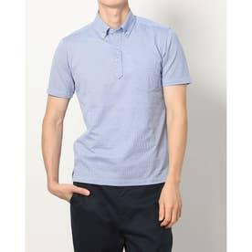 半袖ビズポロ ボタンダウン ビジネスポロシャツ (ブルー)